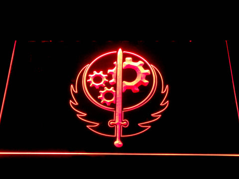 Image of Fallout Brotherhood of Steel LED Neon Sign - Red - SafeSpecial