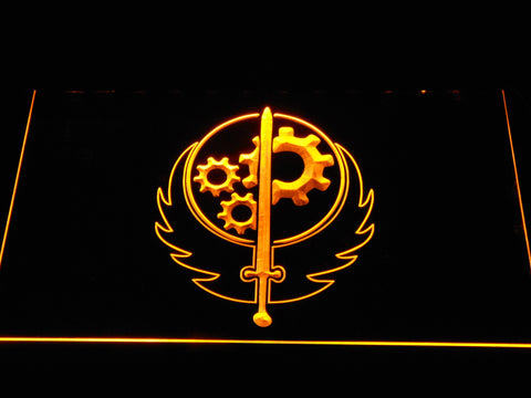 Image of Fallout Brotherhood of Steel LED Neon Sign - Yellow - SafeSpecial