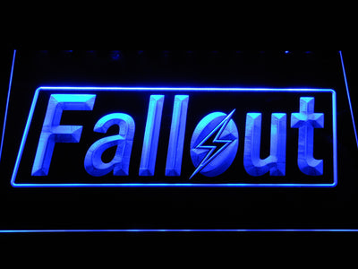 Fallout LED Neon Sign - Blue - SafeSpecial