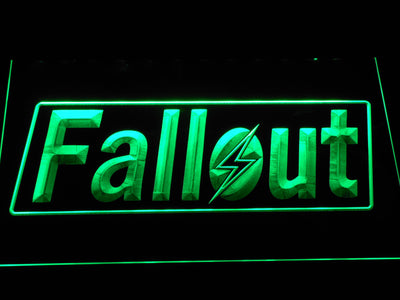 Fallout LED Neon Sign - Green - SafeSpecial