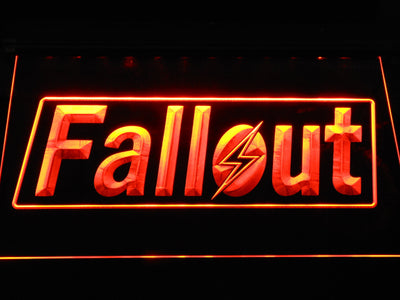 Fallout LED Neon Sign - Orange - SafeSpecial