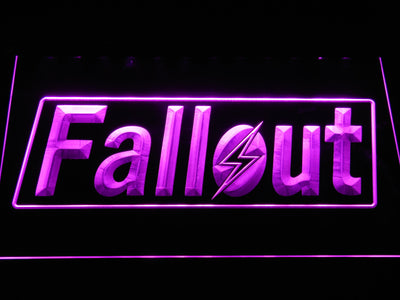 Fallout LED Neon Sign - Purple - SafeSpecial