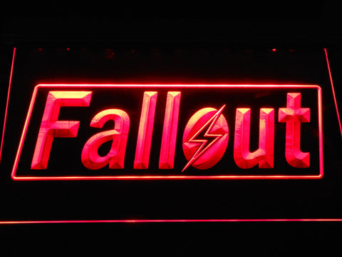 Image of Fallout LED Neon Sign - Red - SafeSpecial
