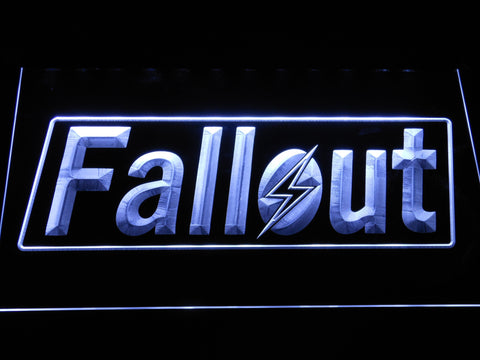 Image of Fallout LED Neon Sign - White - SafeSpecial