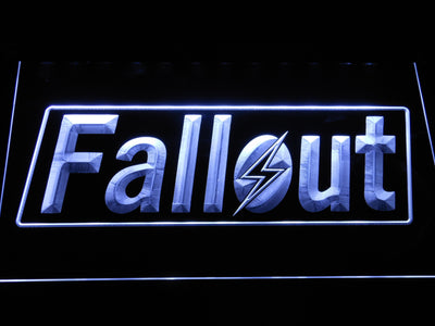Fallout LED Neon Sign - White - SafeSpecial