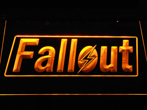 Image of Fallout LED Neon Sign - Yellow - SafeSpecial