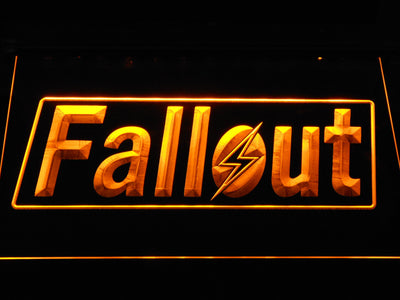 Fallout LED Neon Sign - Yellow - SafeSpecial