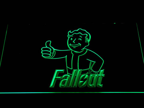 Image of Fallout Vault Boy LED Neon Sign - Green - SafeSpecial