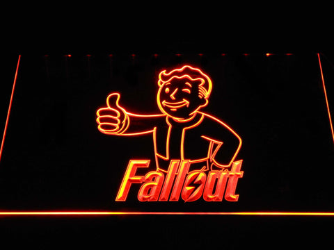 Image of Fallout Vault Boy LED Neon Sign - Orange - SafeSpecial