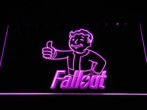 Image of Fallout Vault Boy LED Neon Sign - Purple - SafeSpecial