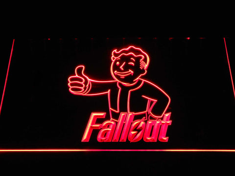 Fallout Vault Boy LED Neon Sign - Red - SafeSpecial