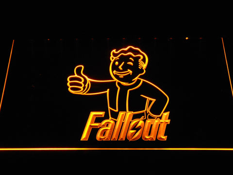 Fallout Vault Boy LED Neon Sign - Yellow - SafeSpecial