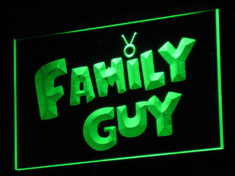 Image of Family Guy LED Neon Sign - Green - SafeSpecial