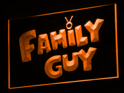 Image of Family Guy LED Neon Sign - Orange - SafeSpecial