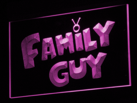 Image of Family Guy LED Neon Sign - Purple - SafeSpecial