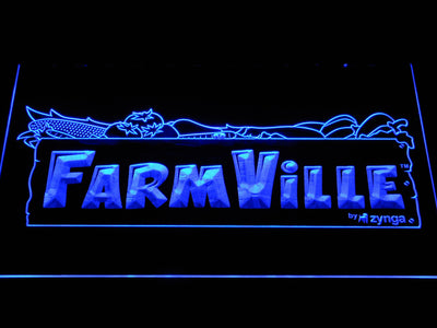 Farmville LED Neon Sign - Blue - SafeSpecial