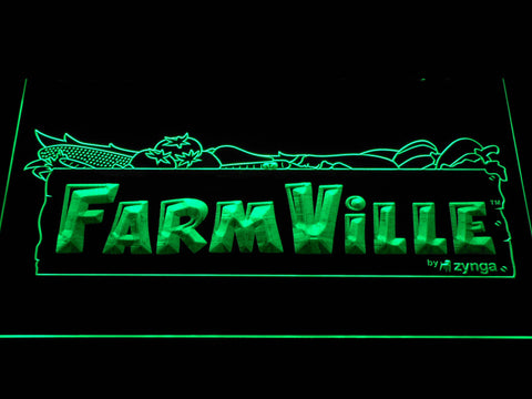 Image of Farmville LED Neon Sign - Green - SafeSpecial
