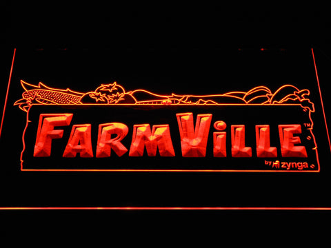 Image of Farmville LED Neon Sign - Orange - SafeSpecial
