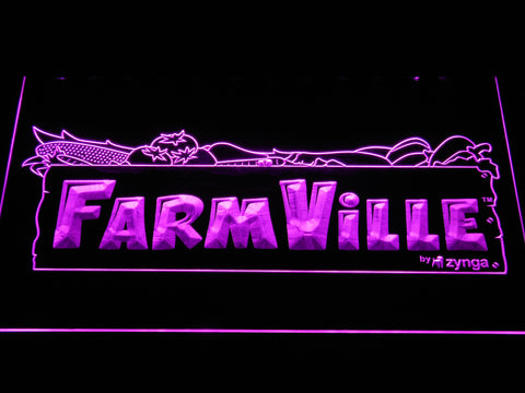 Image of Farmville LED Neon Sign - Purple - SafeSpecial