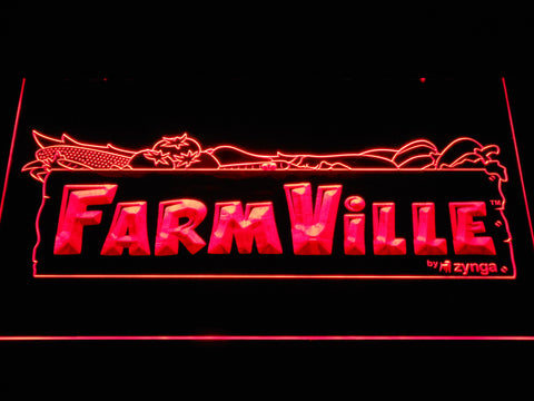 Image of Farmville LED Neon Sign - Red - SafeSpecial