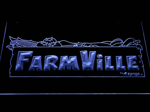 Image of Farmville LED Neon Sign - White - SafeSpecial