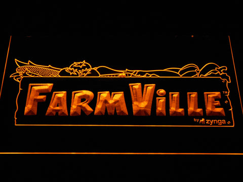 Image of Farmville LED Neon Sign - Yellow - SafeSpecial