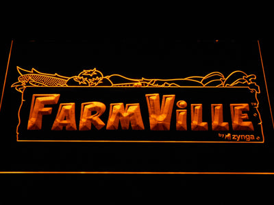 Farmville LED Neon Sign - Yellow - SafeSpecial