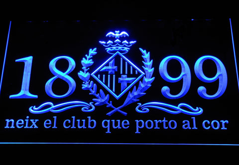 Image of FC Barcelona 1899 Chant LED Neon Sign - Legacy Edition - Blue - SafeSpecial