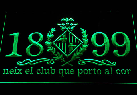 Image of FC Barcelona 1899 Chant LED Neon Sign - Legacy Edition - Green - SafeSpecial