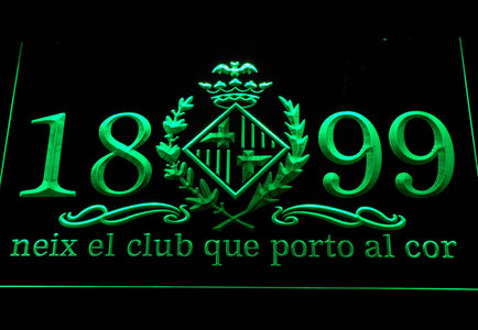 FC Barcelona 1899 Chant LED Neon Sign - Legacy Edition - Green - SafeSpecial