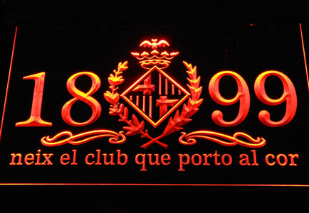 FC Barcelona 1899 Chant LED Neon Sign - Legacy Edition - Orange - SafeSpecial