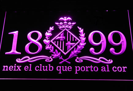 FC Barcelona 1899 Chant LED Neon Sign - Legacy Edition - Purple - SafeSpecial