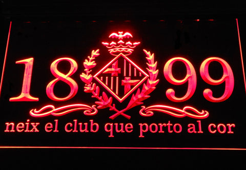 Image of FC Barcelona 1899 Chant LED Neon Sign - Legacy Edition - Red - SafeSpecial