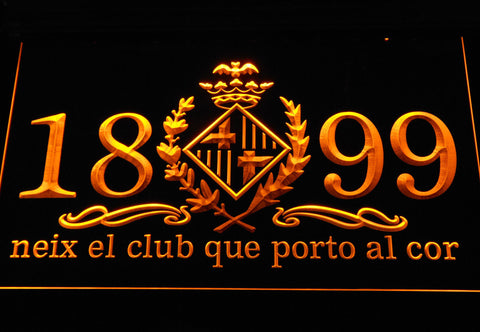 Image of FC Barcelona 1899 Chant LED Neon Sign - Legacy Edition - Yellow - SafeSpecial