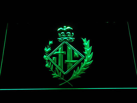 FC Barcelona Coat of Arms LED Neon Sign - Legacy Edition - Green - SafeSpecial