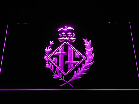FC Barcelona Coat of Arms LED Neon Sign - Legacy Edition - Purple - SafeSpecial