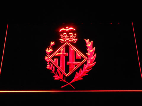 FC Barcelona Coat of Arms LED Neon Sign - Legacy Edition - Red - SafeSpecial