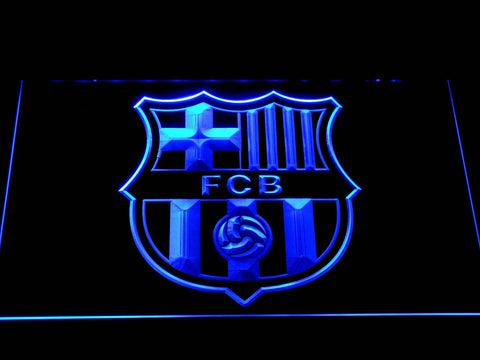 FC Barcelona Crest LED Neon Sign - Blue - SafeSpecial