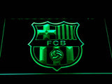 FC Barcelona Crest LED Neon Sign - Green - SafeSpecial