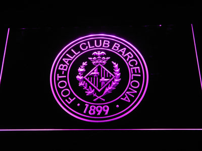 FC Barcelona Crest LED Neon Sign - Legacy Edition - Purple - SafeSpecial