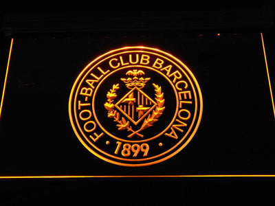 FC Barcelona Crest LED Neon Sign - Legacy Edition - Yellow - SafeSpecial