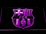 FC Barcelona Crest LED Neon Sign - Purple - SafeSpecial