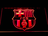 FC Barcelona Crest LED Neon Sign - Red - SafeSpecial