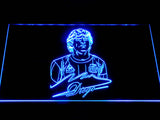 FC Barcelona Diego Maradona LED Neon Sign - Blue - SafeSpecial