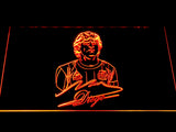 FC Barcelona Diego Maradona LED Neon Sign - Orange - SafeSpecial
