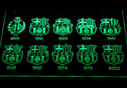 FC Barcelona LED Neon Sign - Green - SafeSpecial
