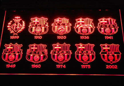 FC Barcelona LED Neon Sign - Red - SafeSpecial