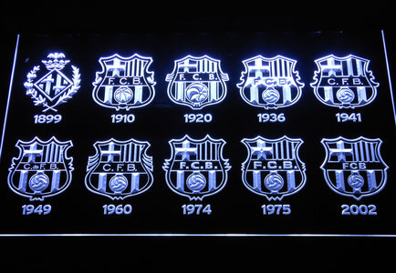 FC Barcelona LED Neon Sign - White - SafeSpecial