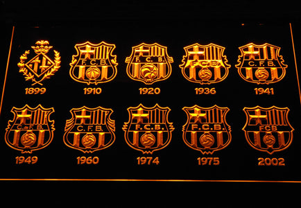 FC Barcelona LED Neon Sign - Yellow - SafeSpecial