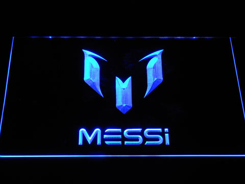 FC Barcelona Lionel Messi Logo LED Neon Sign - Blue - SafeSpecial